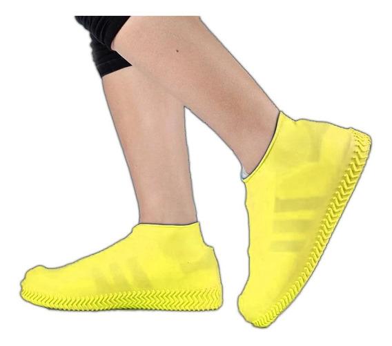 Cubre Calzado Impermeable Sumergible Para Lluvia De Silicona