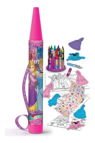 Set De Regalo Princesas Mega Crayon Para Colorear