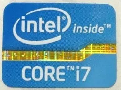 Adesivo Original Intel Core I7 2º E 3° Geração (azul)