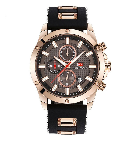 Relógio Marrom Minifocus 100% Original A Prova D
