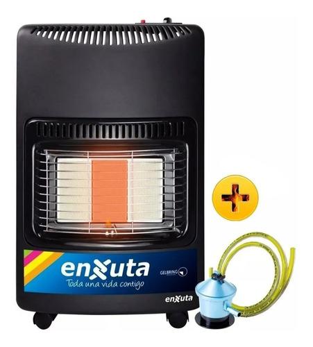 Imagen 1 de 4 de Estufa Gas 3 Paneles Enxuta Válvula Seguridad + Manguera