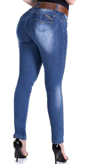 Calça Jeans Zigma Com Cinto Veste Bem Bojo No Bumbum