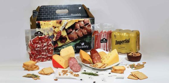 Caja Regalo Empresariales Gourmet Quesos Y Fiambres Premium