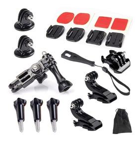 Kit Acessório 19 Suportes Adaptadores Gopro Câmera Esportiva