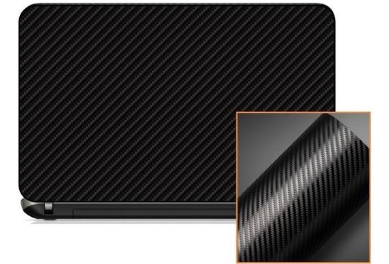 Adesivo Skin Notebook Fibra De Carbono Grafite Preto