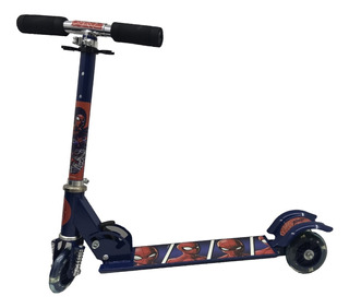 Scooter Patin Spiderman 3 Ruedas Led Niños Original Ajustabl