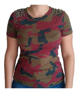 Blusinha Camisa Camuflada Destroida Destroyd Tshirt Feminina