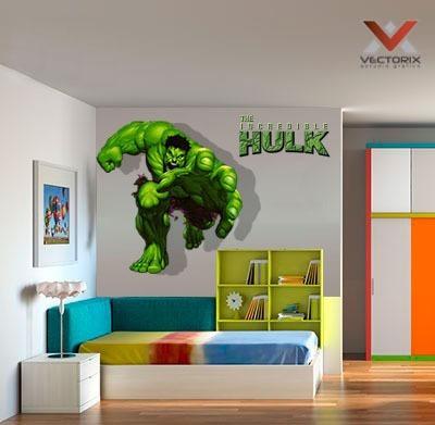 Vinilos Decorativos Avengers Hulk 100 X 150 Cm