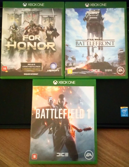 For Honor + Battlefield 1 + 1 Star Wars Battlefront Xbox One