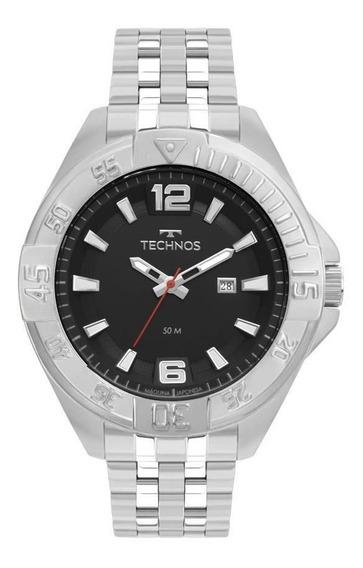 Relógio Technos Masculino Ref: 2115mtm/1p Big Case Prateado