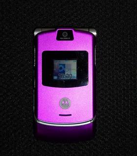 Celular Motorola V3 Roxo Perfeito Funcionamento Original!
