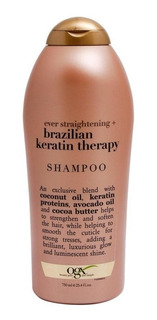 Ogx Shampoo Sin Sulfatos Brazillian Keratin Cabello Dama Muj