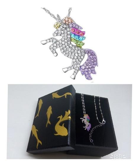 Colar + Pingente Unicornio, Pony, C/caixa,promoçao,lindo