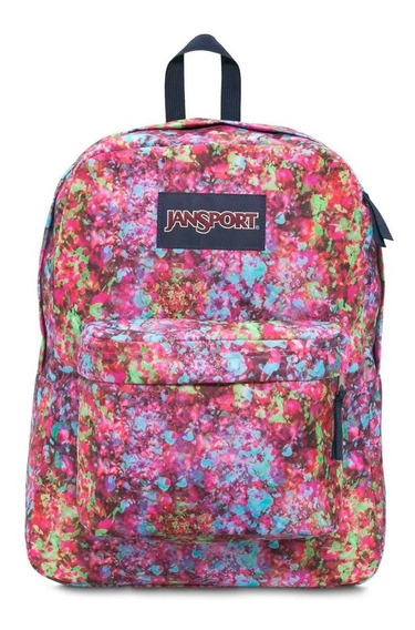 Mochila Jansport Superbreak Multi Flower Explosion Full