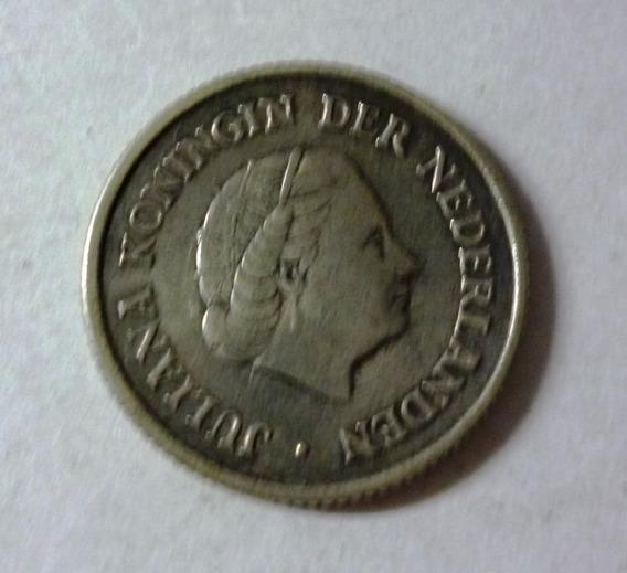 Antillas Holandesas Moneda 1/4 Gulden 1954 Plata Km 4 Vf+