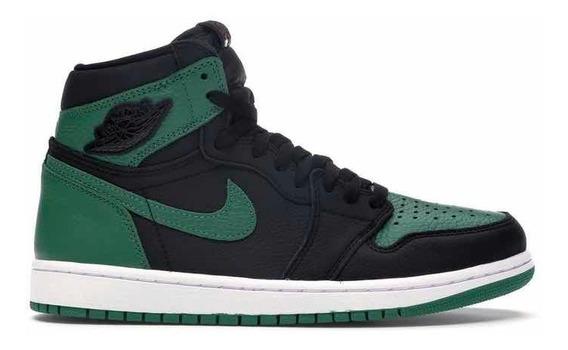 Sneakers Original Jordan 1 Retro High Pine Green Black Verde