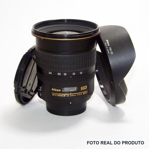 Lente Objetiva Nikon Dx - Af-s Nikkor 12-24mm 1:4 G Ed - Completa
