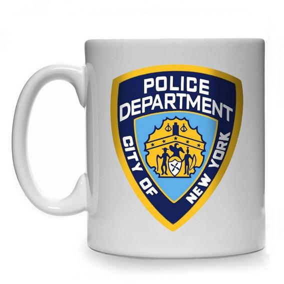 Caneca Brooklyn 99 Nypd Police Fbi Usa Logo Brasão America