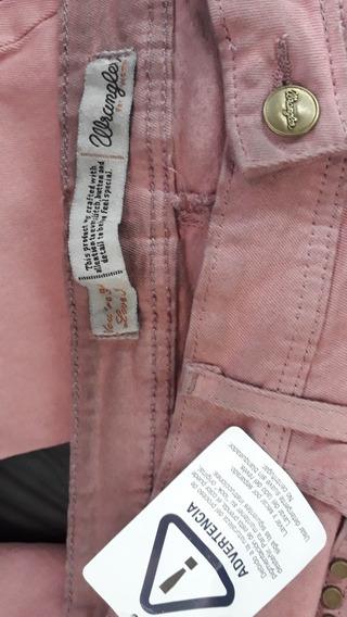 Jeans Wrangler Woman Talle 40 Rosa Vintage Elastizado