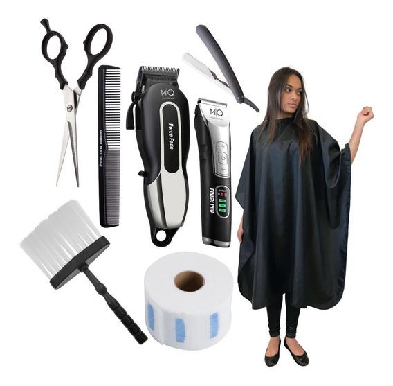 Kit Barbearia Máquina Corte Acabamento Cordless E Acessórios