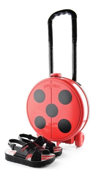 Sandália Ladybug + Bolsa De Rodinha Trip Bag 21756 Grendene