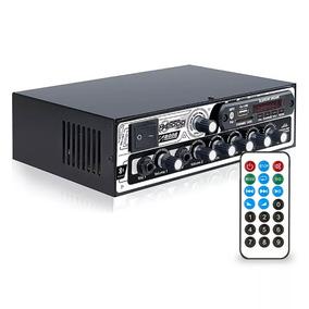 Receiver Bluetooth Boog Mx2000 Usb Sd 300rms 2 Canal Estéreo