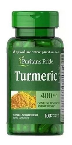 Curcuma Turmeric 100 Cápsulas Purita - Unidad a $3