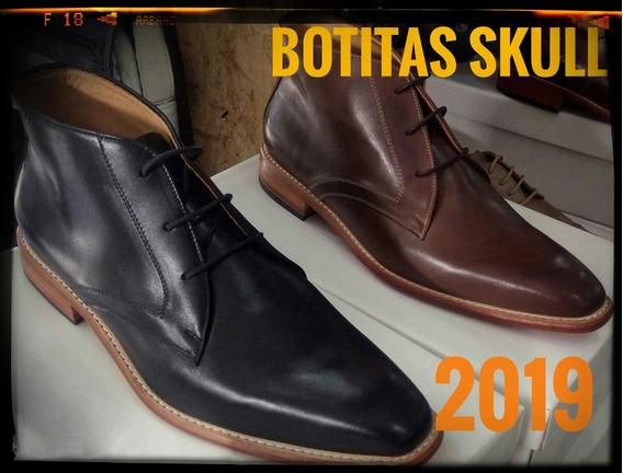 Zapatos Botitas De Cuero Hombre