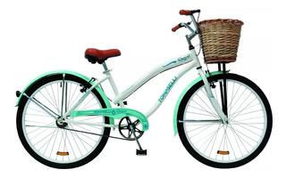 Bicicleta Dama Rodado 26 Playera Canasto Mimbre Royal Mandy