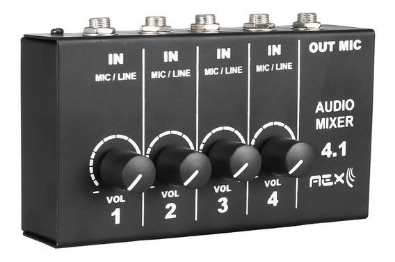 Mini Mixer Aex Com 4 Canais Mesa De Som Portátil Oferta Nfe