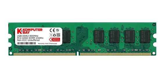 Memoria Ram 2gb Komputerbay Ddr2 800mhz Pc2-6300 Pc2-6400 Ddr2 800 (240 Pin) Dimm
