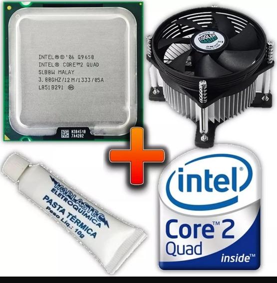 Processador Intel 775 Q9650 + Cooler + Pasta Térmica