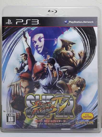 Jogo De Ps3 Super Street Fighter 4 Japonês Em Mídia Física