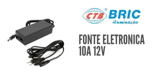 Fonte Eletronica 12v 10a 110v/220v Automática Para Fita Led