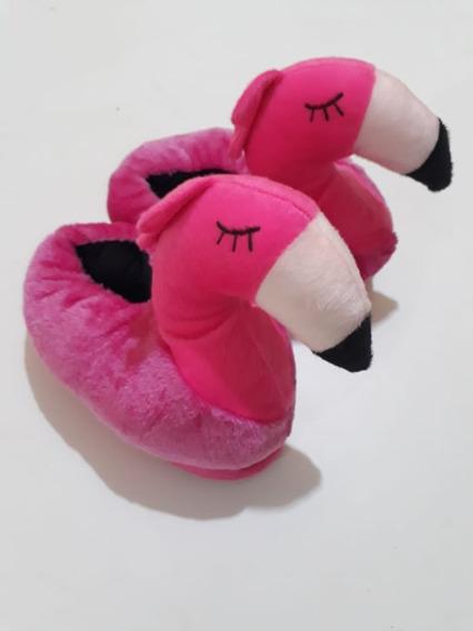 Pantufa Flamingo Pelo Curto Lançamento 2018 Revenda
