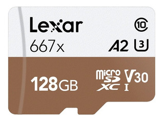 Cartão Micro Sd Sdxc Lexar 128gb Professional U3 4k V30 667x