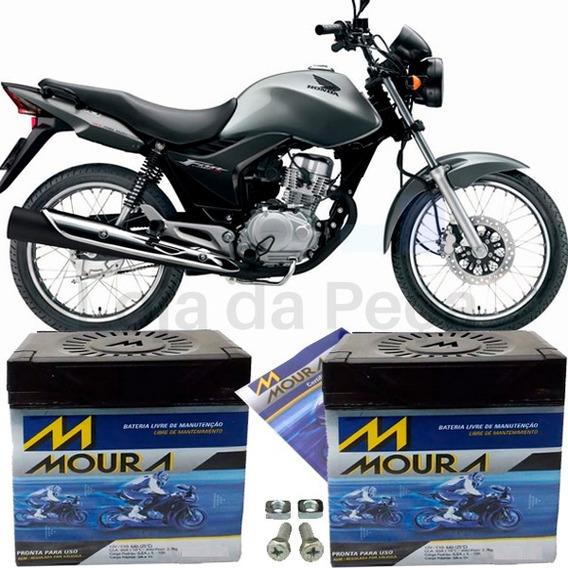 Bateria Pra Moto 150 Motocicleta Cg150 Fan 2010 À 2015 Moura