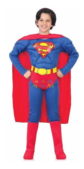 Disfraz Superman Con Musculos Liga Justicia Mundo Manias