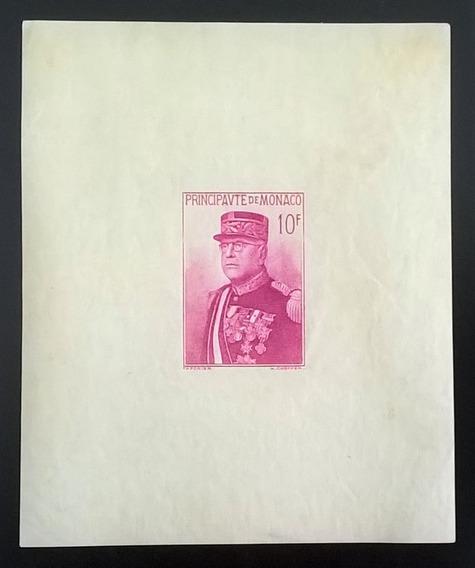 Mónaco, Bloque Yv. 1 Papel Grisáceo 1938 Mint L11982