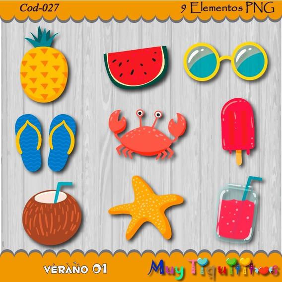 Kit Imprimible Verano 01 - Imagenes Png- Cliparts- 2x1