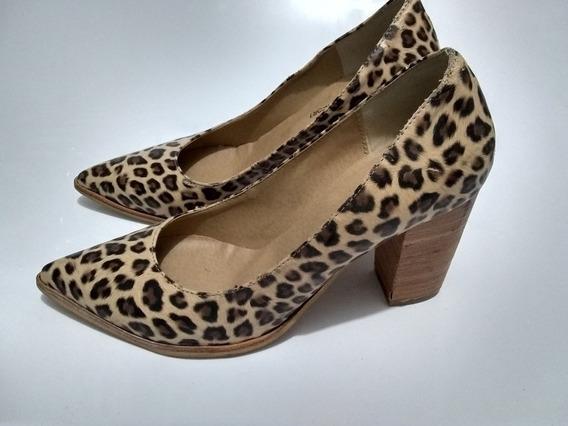 Zapato Stilettos Mujer Animal Usados