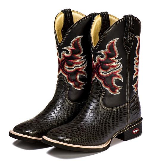Bota Country Texana Masculina Feminina Couro Cobra Anaconda