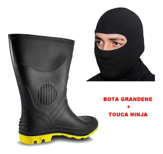 Kit Bota Motociclista Impermeavel Chuva Pega Forte + Touca