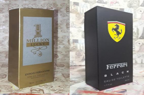 Kit Promoção Perfumes Masc ,1million Lucky /ferrari Black
