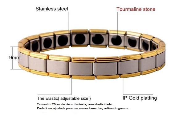 Pulseira(bracelete) Magnética Medicinal Turmalinas Unissex