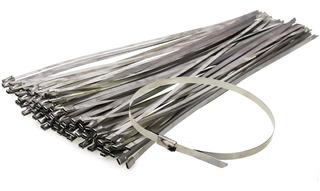 Precinto Metalico Acero Inox 7.9mm X 680mm X 50 Unidades