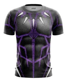 Camisa Camiseta Traje Pantera Negra 3d Vingadores Ultimato