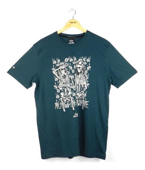 Camiseta Lost Nudes In Paradise Verde Petroleo - Original