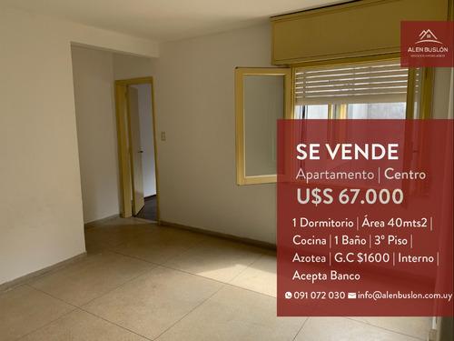 Apartamento Venta 1 Dormitorio Centro 3er Piso Bajos G.c