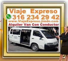 1 Alquiler Vans Con Conductor, Transporte 16 Pasajeros, Van